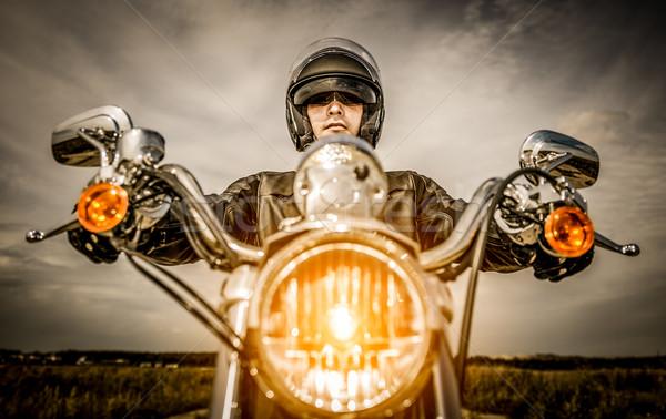 Racing weg helm hemel Stockfoto © cookelma