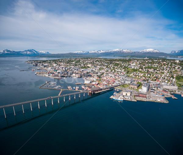 Bridge of city Tromso, Norway Stock photo © cookelma