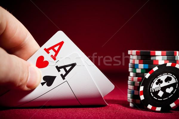Two Aces Stock photo © cookelma