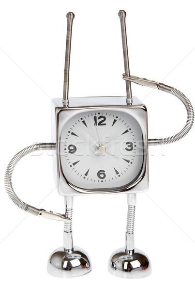 Metal alarm-clock on a white background Stock photo © cookelma