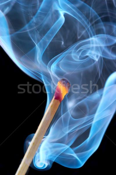 Сток-фото: фото · сжигание · матча · дым · черный · аннотация
