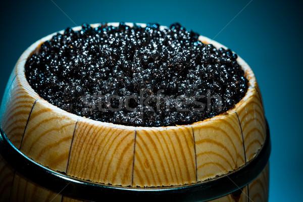 Russo preto caviar pequeno barril Foto stock © cookelma