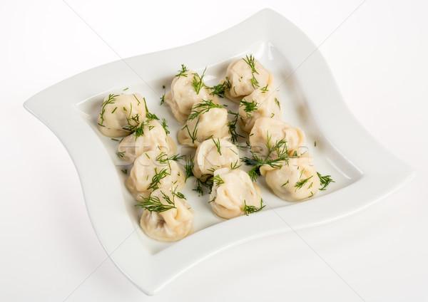 Dumplings Russian pelmeni - Italian ravioli Stock photo © cookelma