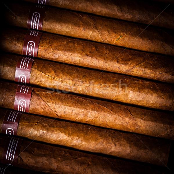 Cigarros abierto negocios cuadro regalo Foto stock © cookelma