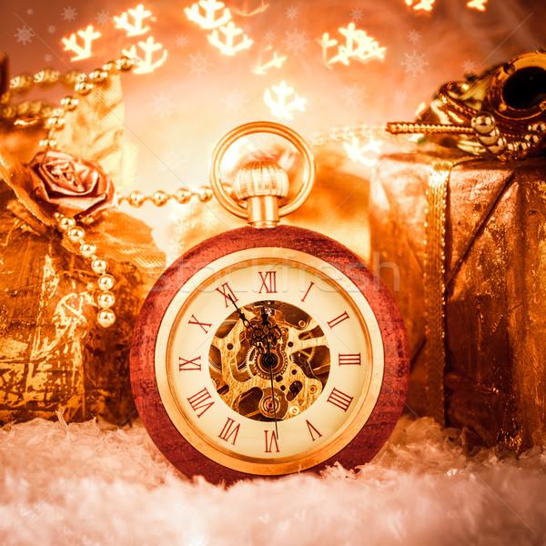 Stok fotoğraf: Noel · natürmort · parti · kar · Metal