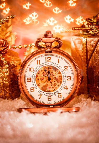 Рождества натюрморт вечеринка снега металл Сток-фото © cookelma