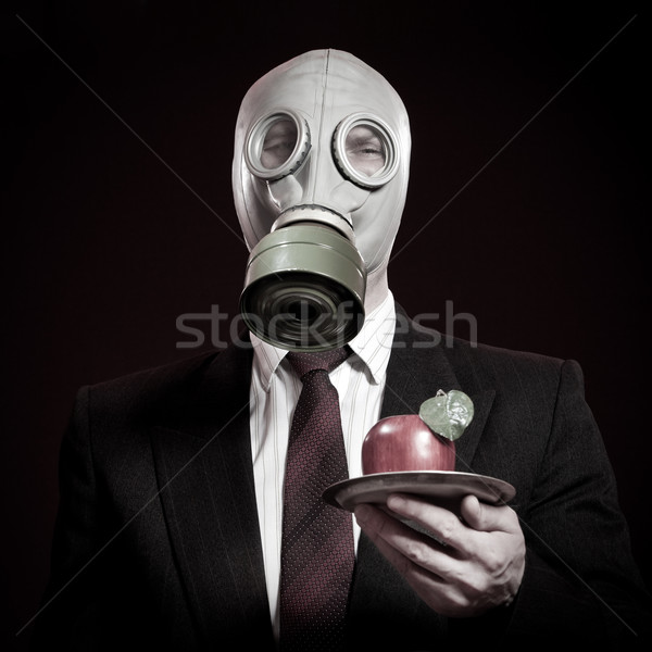 person in a gas mask Stock photo © cookelma