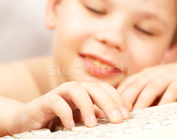The boy with the keyboard Stock photo © cookelma