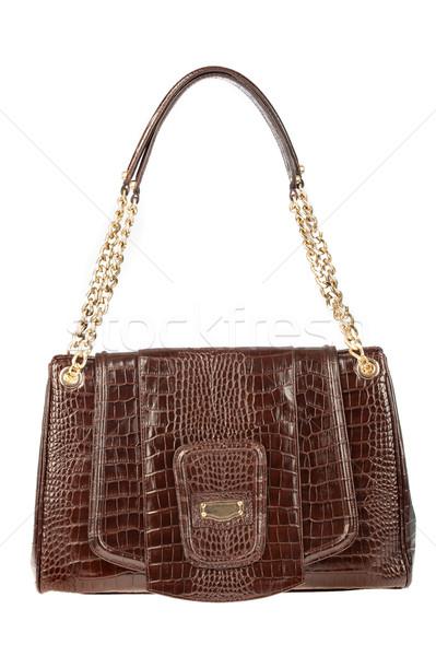 сумочка женщины кожа белый сумку стиль Сток-фото © cookelma