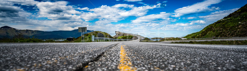 Panorama Atlantic Ocean Road Norway Stock photo © cookelma