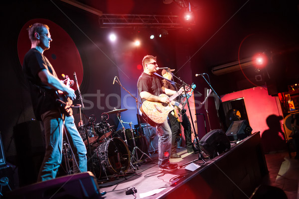 Band fase discoteca concerto uomini Foto d'archivio © cookelma