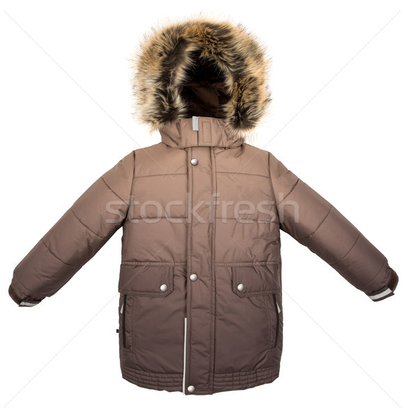 Chaud veste isolé hiver blanche fond Photo stock © cookelma