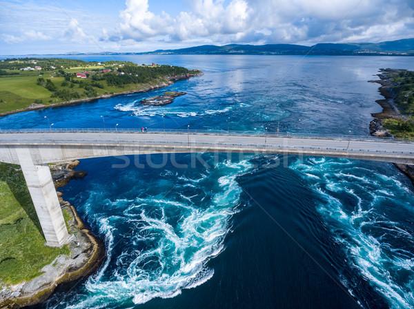 Noruega água natureza neve onda padrão Foto stock © cookelma