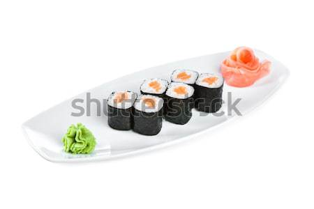 Sushi maki rolar branco japonês cozinha Foto stock © cookelma
