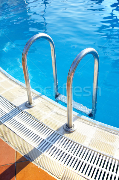 Ladder in pool Stock photo © cookelma