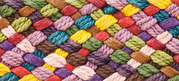 multi colored woollen yarns Stock photo © cookelma