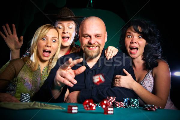 şirket arkadaşlar parti grup eğlence kumarhane Stok fotoğraf © cookelma