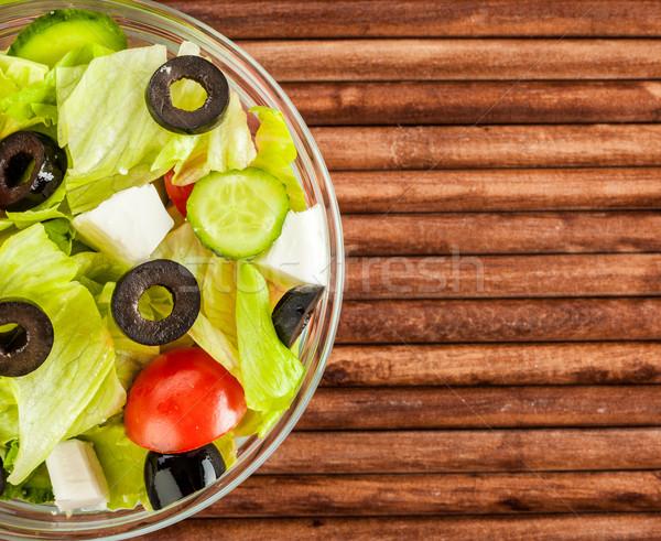 Vers salade smakelijk vegetarisch eten licht gezondheid Stockfoto © cookelma