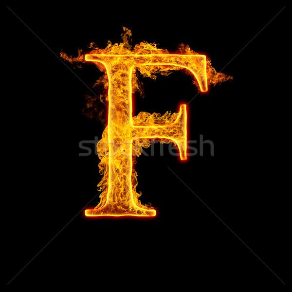 Fire alphabet letter F Stock photo © cookelma