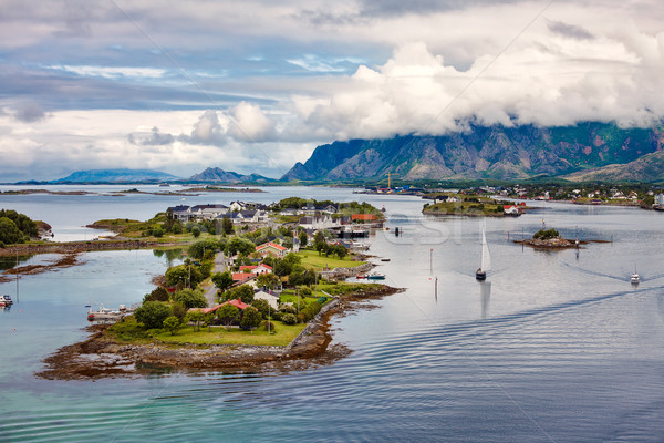 Bronnoysund Norway Stock photo © cookelma