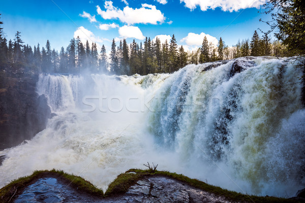 Stock photo: Ristafallet waterfall in the western part of Jamtland is listed