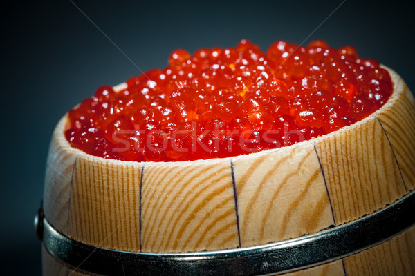 Keg of red caviar Stock photo © cookelma