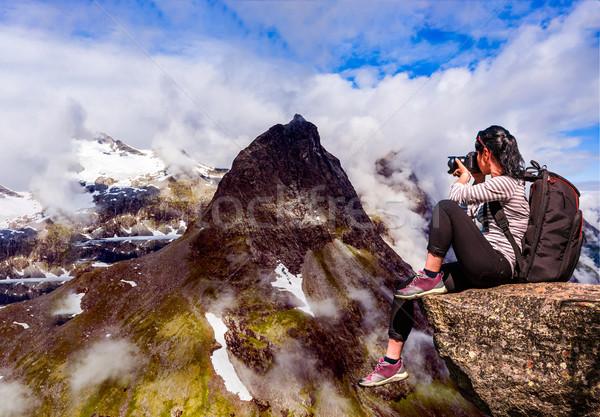 Norvégia gyönyörű természet panoráma fotós turista Stock fotó © cookelma
