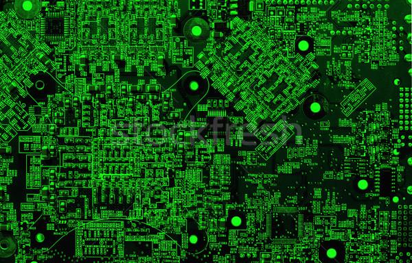 統合された 回路 緑 コンピュータ 細部 ネオン ストックフォト © cookelma