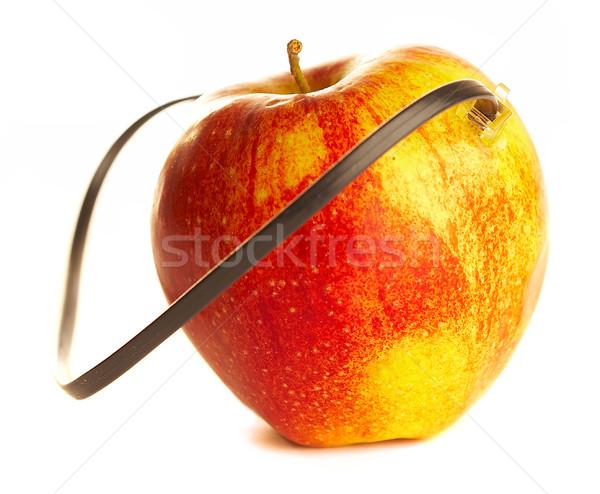 Friss alma csatolva kábel fehér számítógép Stock fotó © cookelma