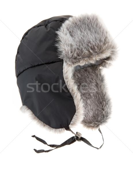 毛皮 キャップ 白 冬 冷たい ストックフォト © cookelma