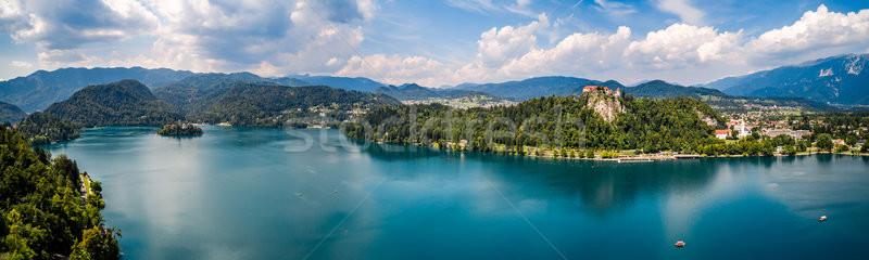Slovénie panorama Resort lac Photo stock © cookelma