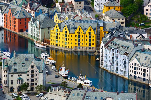 City of Alesund Norway Stock photo © cookelma