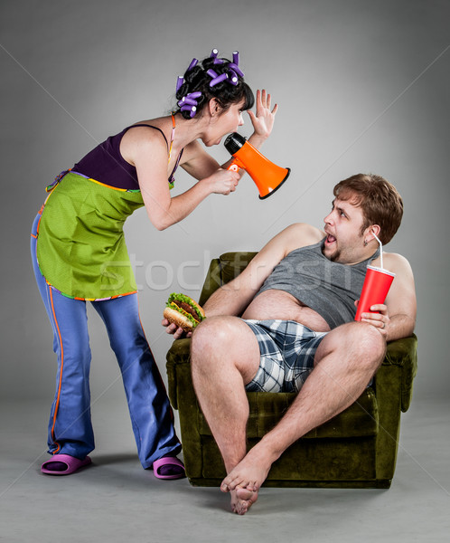 семьи ссориться муж жена продовольствие любви Сток-фото © cookelma