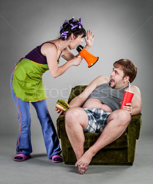 Família brigar marido esposa comida amor Foto stock © cookelma