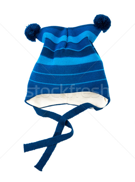 Children's autumn-winter bluecap isolated Stock photo © cookelma