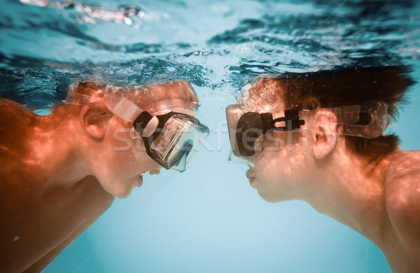 Teenagers under water Stock photo © cookelma