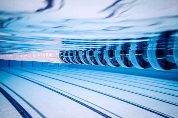 Foto stock: Piscina · água · esportes · atravessar · fitness · fundo