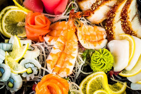 Deniz gıda kombinasyon restoran akşam yemeği Stok fotoğraf © cookelma