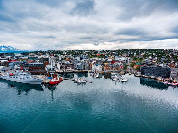 View of a marina in Tromso, North Norway Stock photo © cookelma
