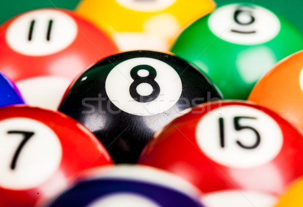 background billiard spheres Stock photo © cookelma