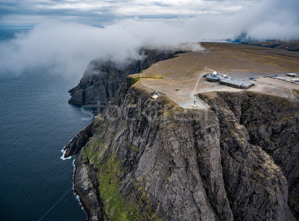 Stock photo: North Cape (Nordkapp) aerial photography,