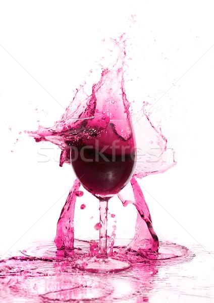 Foto stock: Roto · vidrios · rotos · vino · blanco · agua · piscina