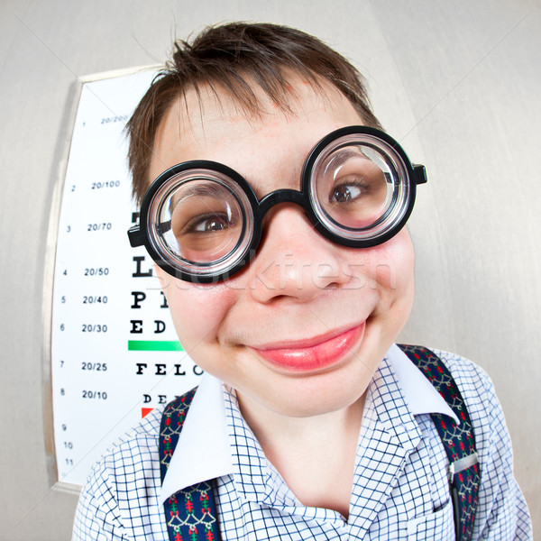 человек очки служба врач детей Сток-фото © cookelma
