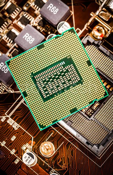 現代 プロセッサ マザーボード ホーム コンピュータ ビジネス ストックフォト © cookelma