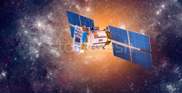 Foto stock: Espacio · satélite · planeta · tierra · tierra · elementos · imagen