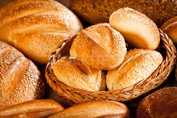 Brood vers zachte smakelijk voedsel tarwe Stockfoto © cookelma