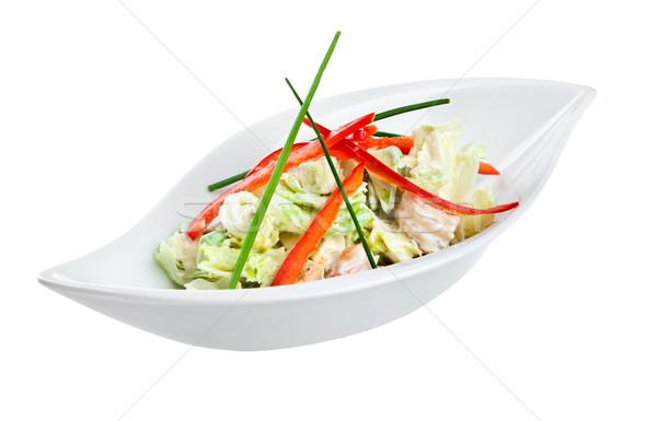 Stockfoto: Vers · salade · groenten · witte · groene · tomaat