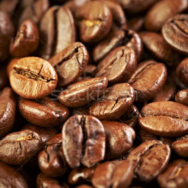 Grains de café parfumé frit café vie sombre Photo stock © cookelma