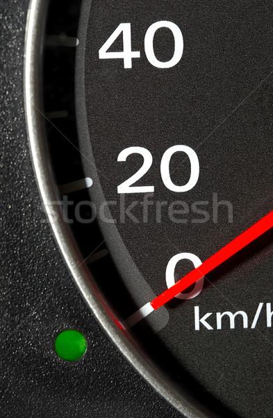 Instrumento panel coche rojo flecha deporte Foto stock © cookelma