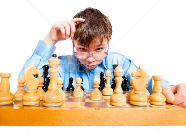 wunderkind  play chess Stock photo © cookelma